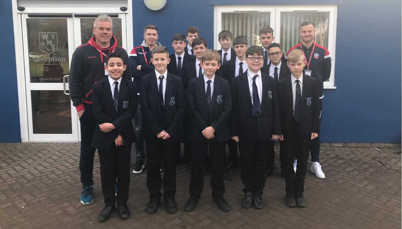 Wheater, Vela and Butler visit Westhoughton High's Community